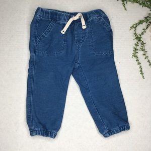 Baby Gap Blue Denim Easy Joggers 12-18M